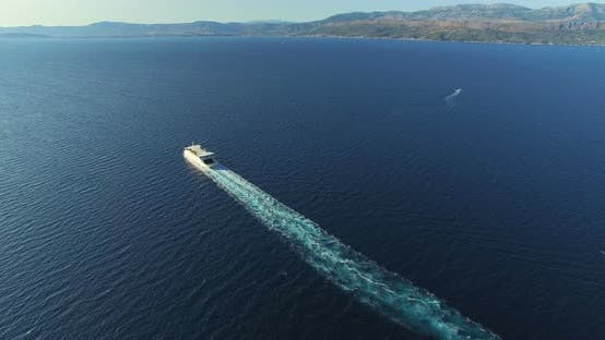 Thumbnail for Aerial View Of Ferry In Beautiful Adriatic Sea, Croatia 2
