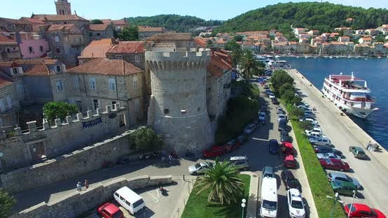 Thumbnail for Aerial View Of Fort At City Of Korcula, Croatia