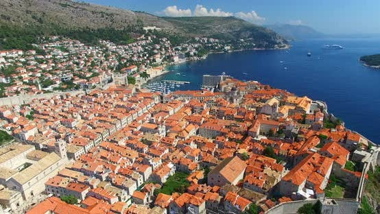 Aerial View Of Old Town Of Dubrovnik 3
