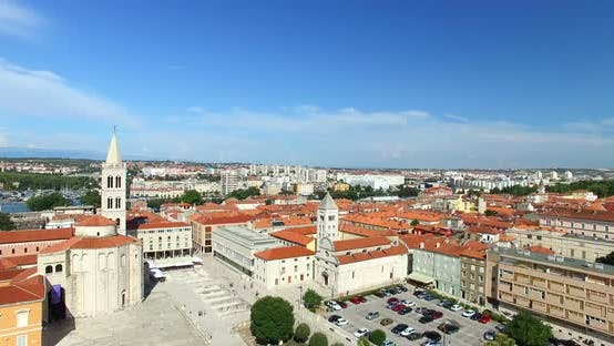 Thumbnail for Aerial View Of Old Town Of Zadar, Croatia 1