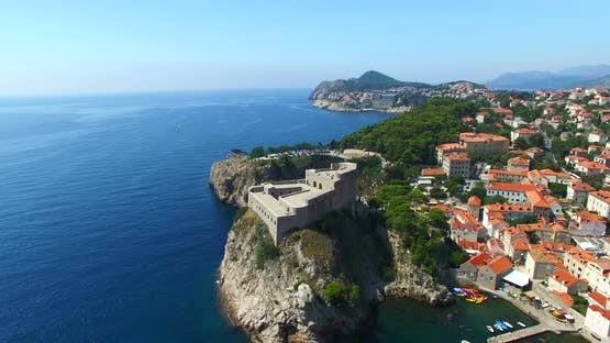 Aerial View Of Fortress Lovrijenac In Dubrovnik