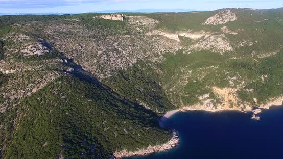 Thumbnail for Aerial View Of Beautiful Beach St. John On Island Of Cres, Croatia 1