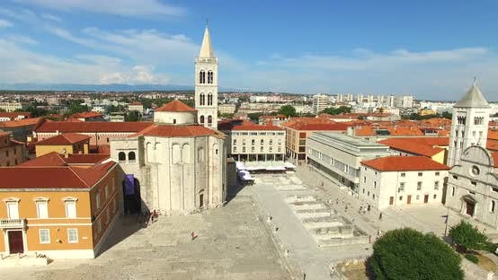 Thumbnail for Aerial View Of Old Town Of Zadar, Croatia 6
