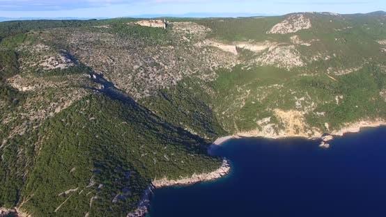Thumbnail for Aerial View Of Beautiful Beach St. John On Island Of Cres, Croatia 2