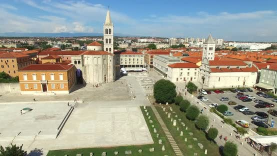 Thumbnail for Aerial View Of Old Town Of Zadar, Croatia 7