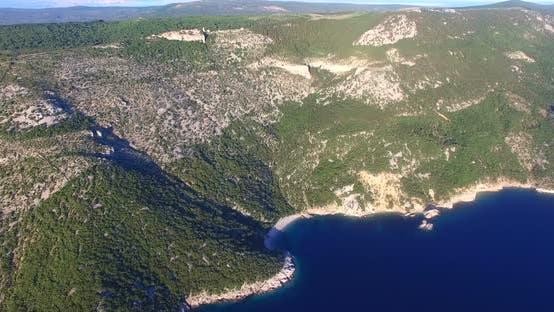 Thumbnail for Aerial View Of Beautiful Beach St. John On Island Of Cres, Croatia 4