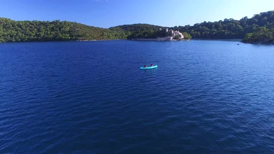 Thumbnail for Aerial View Of People Kayaking On The Island Of Mjlet, Croatia 2