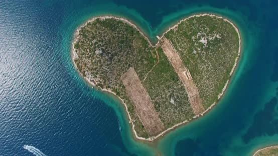 Thumbnail for Aerial View Of Galesnjak Island, Island Of Love, Croatia 1