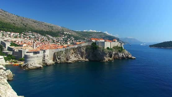 Thumbnail for Aerial View Of Beautiful Old Town Of Dubrovnik 3