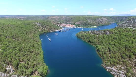 Thumbnail for Aerial View Of Skradin, Croatia 4