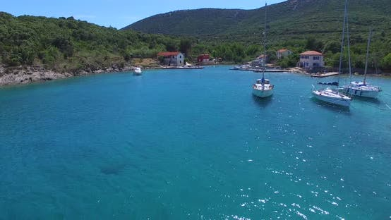 Thumbnail for Aerial View Of Small Harbor On Island Of Cres, Croatia 4
