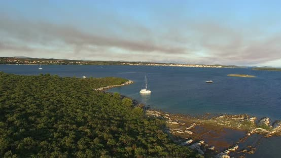 Thumbnail for Aerial View Of Small Island Of Galesnjak In Croatia 1