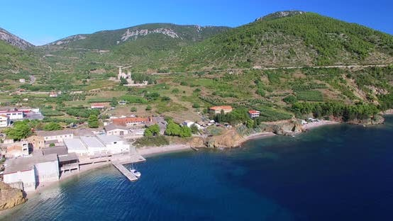 Thumbnail for Aerial View Of Small Komiza Town On Island Of Vis, Croatia 2