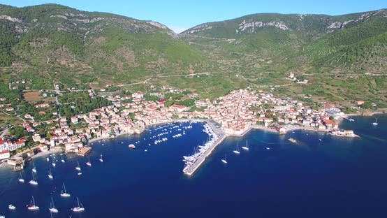Thumbnail for Aerial View Of Small Komiza Town On Island Of Vis, Croatia 4