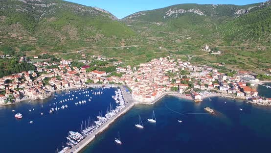 Thumbnail for Aerial View Of Small Komiza Town On Island Of Vis, Croatia 6