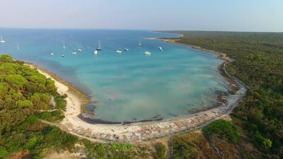 Thumbnail for Aerial View Of Beautiful Slatinica Beach At Olib Island, Croatia 2