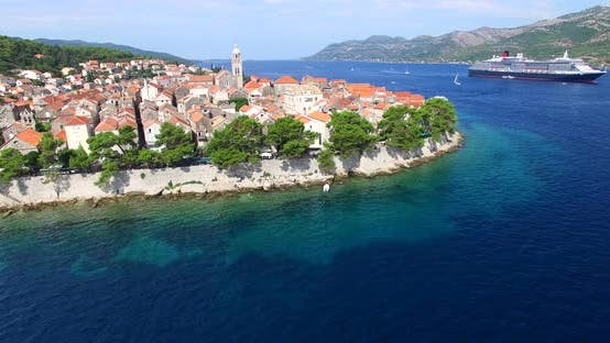 Thumbnail for Aerial View Of Historic City Of Korcula, Croatia 8
