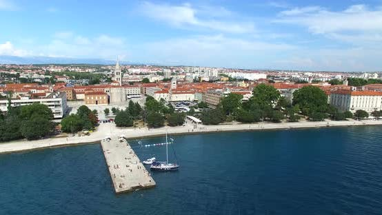 Thumbnail for Aerial View Of Historic Old Town Of Zadar, Croatia 1