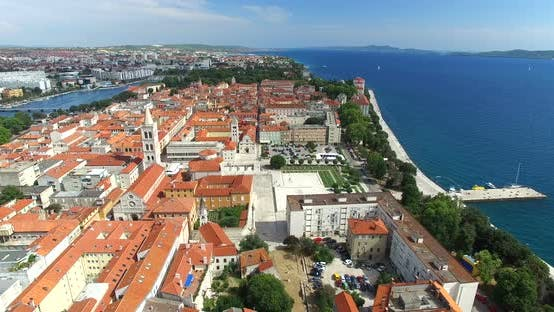 Thumbnail for Aerial View Of Historic Old Town Of Zadar, Croatia 6
