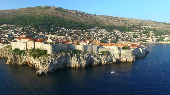Thumbnail for Aerial View Of Historic Walled City Of Dubrovnik 7