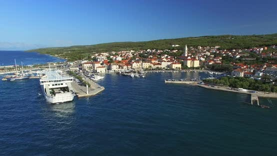 Thumbnail for Aerial View Of Supetar Harbour On Island Of Brac, Croatia 2