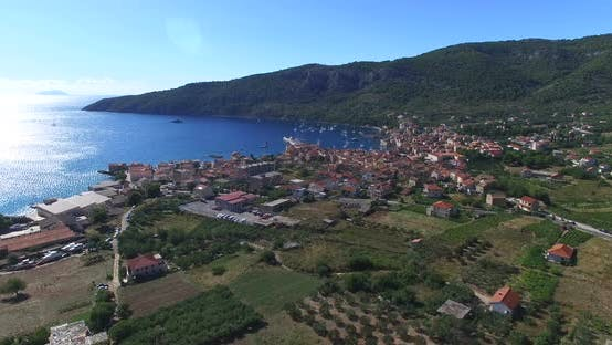 Thumbnail for Aerial View Of Komiza On Island Of Vis, Croatia 1