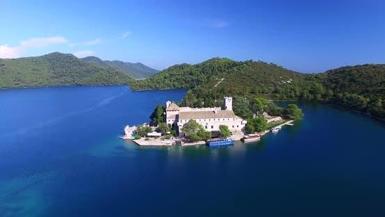 Thumbnail for Aerial View Of Benedictine Monastery On Mjlet Island, Croatia 3