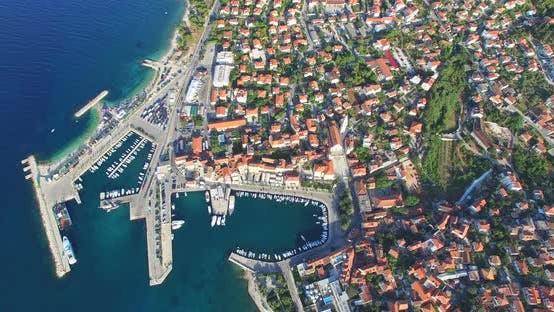 Thumbnail for Aerial View Of Supetar Town, Croatia 5