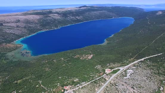 Thumbnail for Aerial View Of Lake Vrana, Largest Lake In Croatia 1