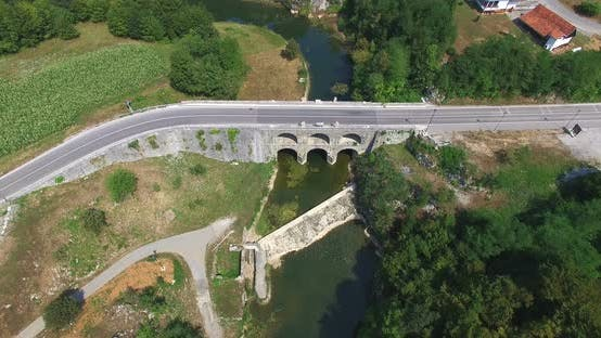 Thumbnail for Aerial View Of Tounj Bridge, Croatia 1