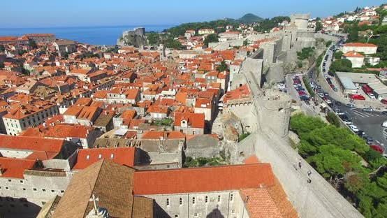 Thumbnail for Aerial View Of Old City Of Dubrovnik In Croatia 1
