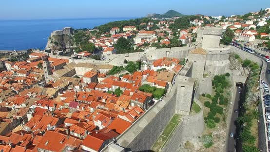 Thumbnail for Aerial View Of Old City Of Dubrovnik In Croatia 3