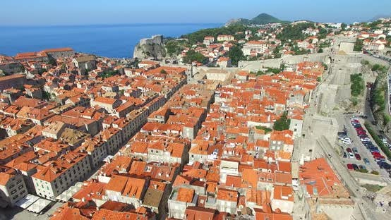 Thumbnail for Aerial View Of Old City Of Dubrovnik In Croatia 4
