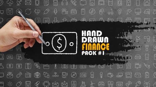 Paquet Finance dessiné à la main 1