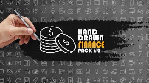 Paquet Finance dessiné à la main 2