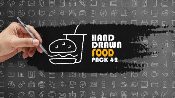 Thumbnail for Hand Drawn Food Pack 2