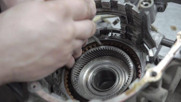 Thumbnail for Auto Mechanic Repairing a Car Engine