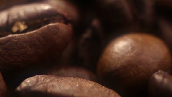Thumbnail for Dolly Passing By Coffee Beans Background