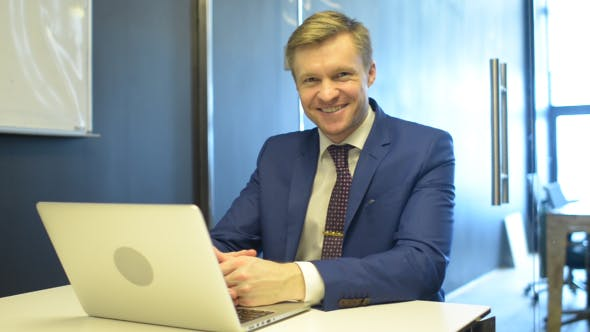 Thumbnail for Successful Smiling Businessman