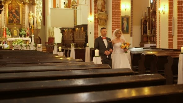 Thumbnail for Wedding Couple Exiting Church