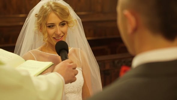 Thumbnail for Bride Taking Wedding Vows In Church