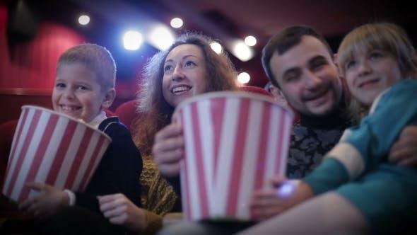 Family In The Cinema