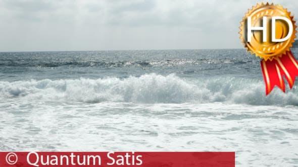 Waves Rolled Ashore. Establishing Shot