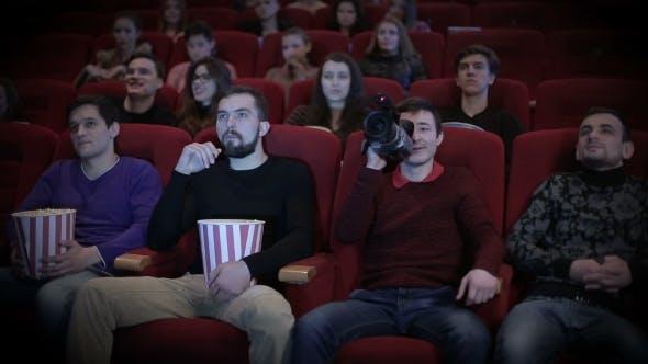 Thumbnail for Young Man Pirating At The Cinema