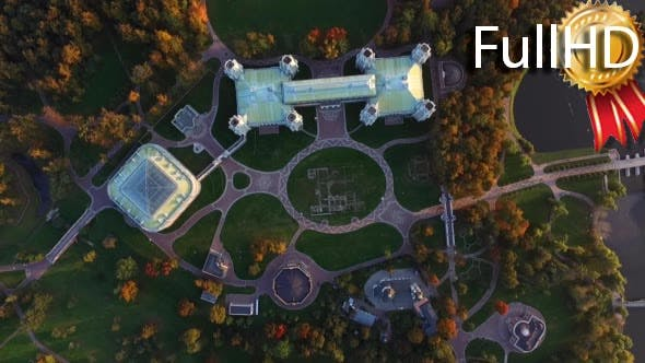Thumbnail for Aerial Video of Palace and Park Complex