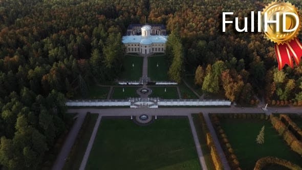 Thumbnail for Aerial View of the Beautiful Museum-Estate