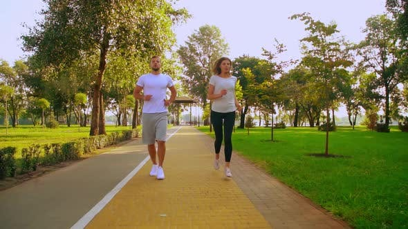 Thumbnail for People Jogging Outdoors