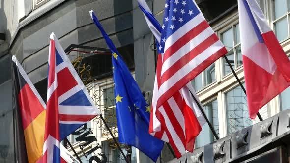 International Flags - European Hotel