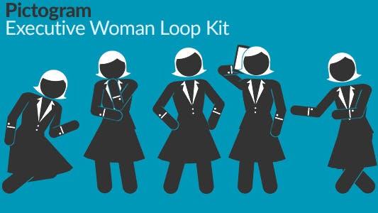 Thumbnail for Pictogram Executive Woman Loop Kit