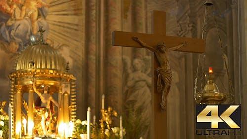 Altar and Jesus Crucifix